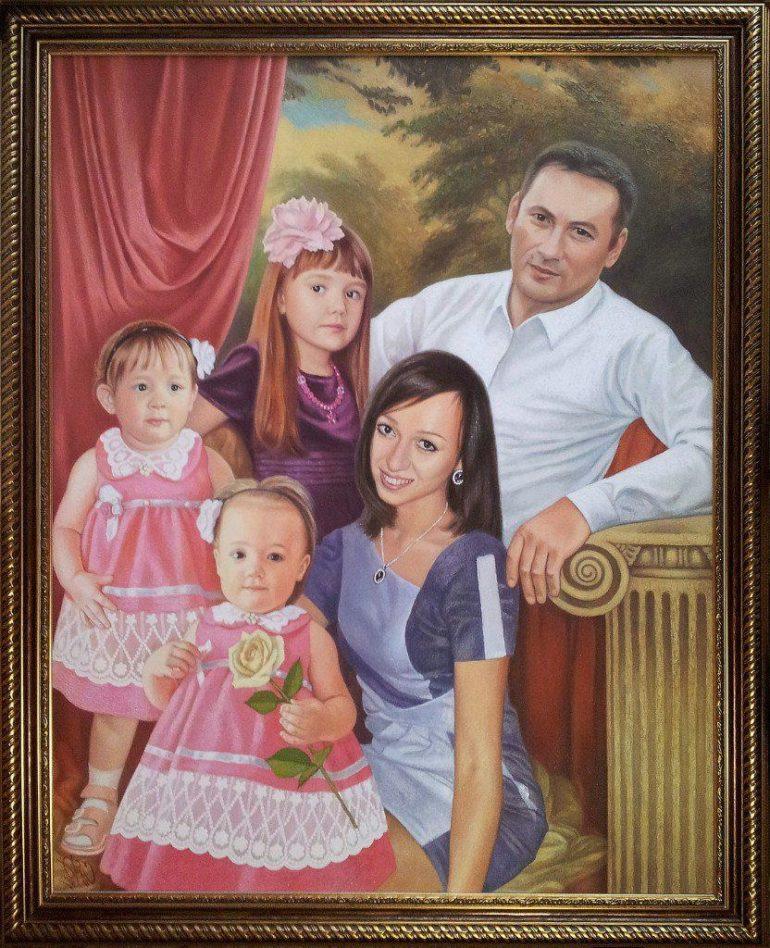 Семейный портрет маслом в Орле — правильная традиция…