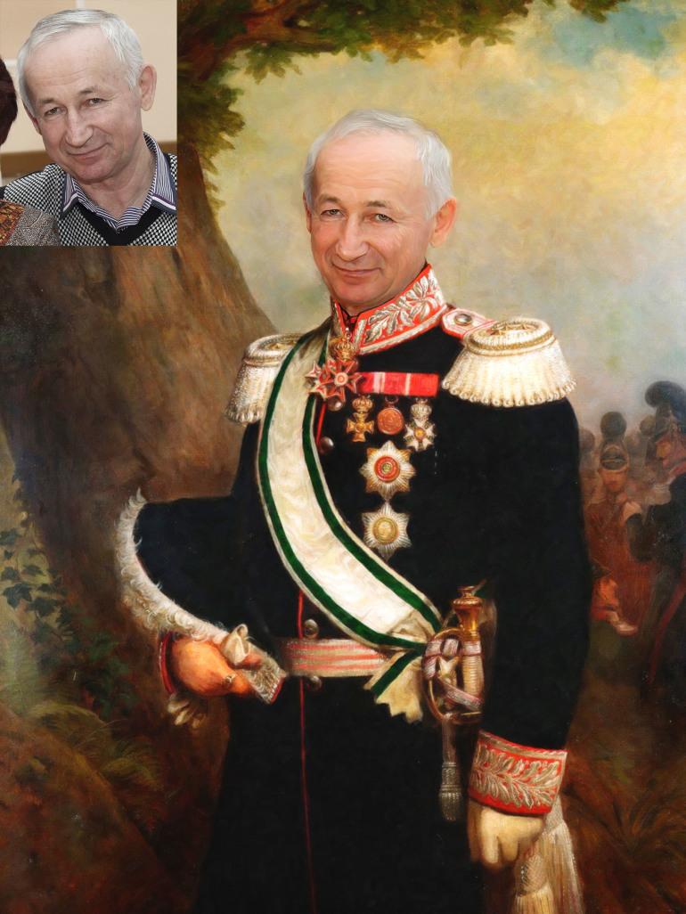 Где заказать исторический портрет по фото на холсте в Орле?