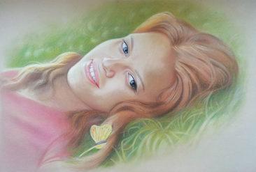 Настоящий портрет пастелью для любимой девушки в Орле, просто и со вкусом!