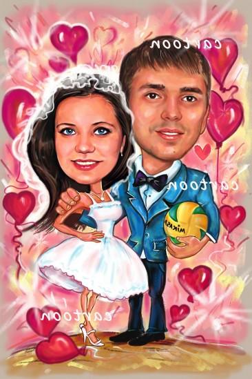Свадебный шарж с оригинальным сюжетом в Орле!