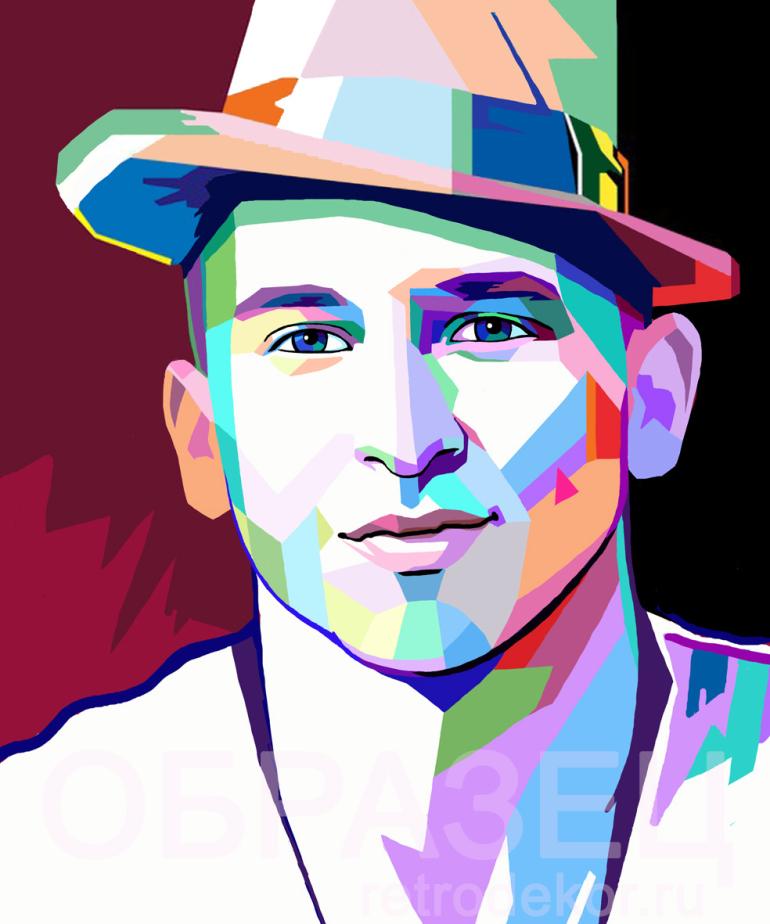Модный и стильный Поп Арт портрет по фото в стиле Wpap