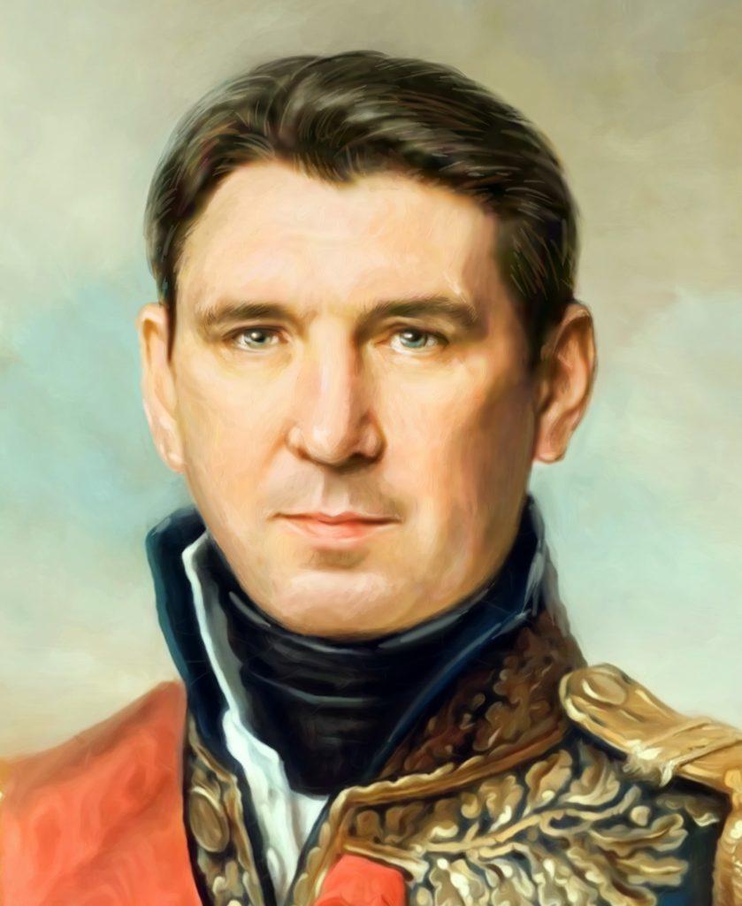 портрет по фото на холсте в подарок Орёл