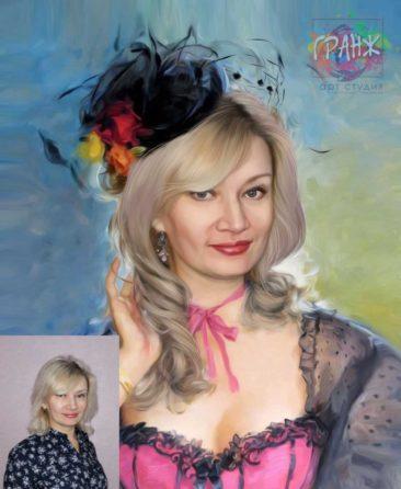 Заказать арт портрет по фото на холсте в Орле
