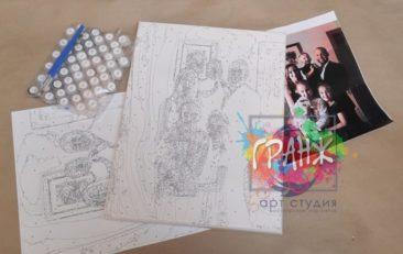 Картина по номерам по фото, портреты на холсте и дереве в Орле