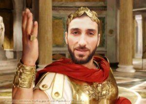 Портрет по фото греческого бога